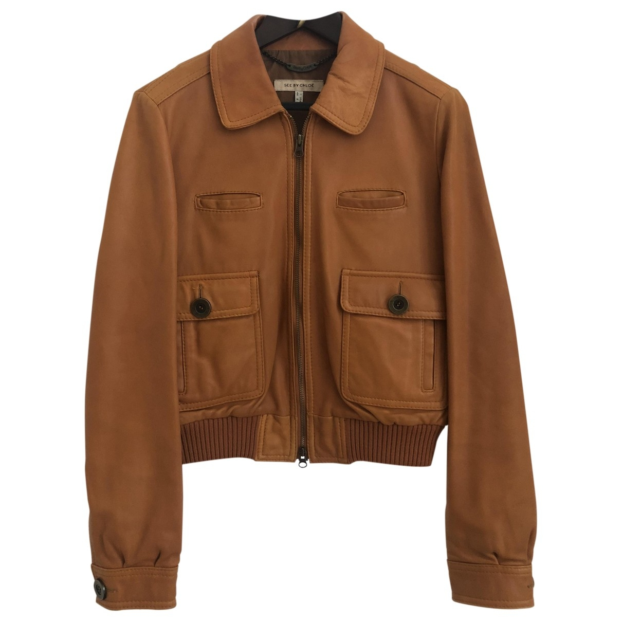 See By Chloé \N Brown Leather Leather jacket for Women 44 IT