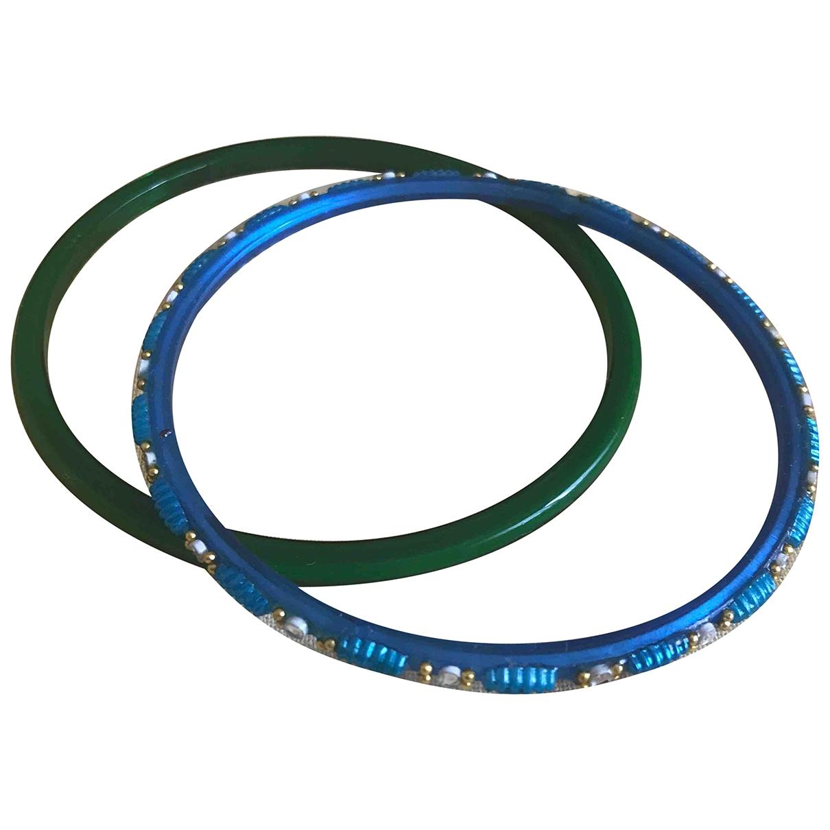 - Bracelet   pour femme en verre - bleu