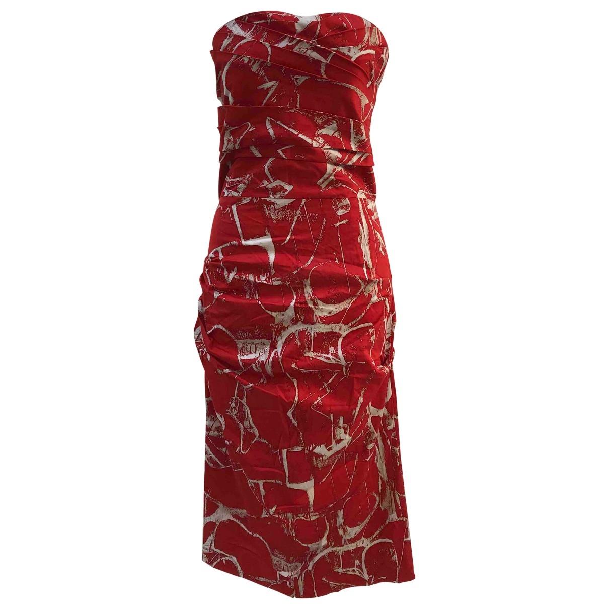 Samantha Sung \N Kleid in  Rot Baumwolle - Elasthan