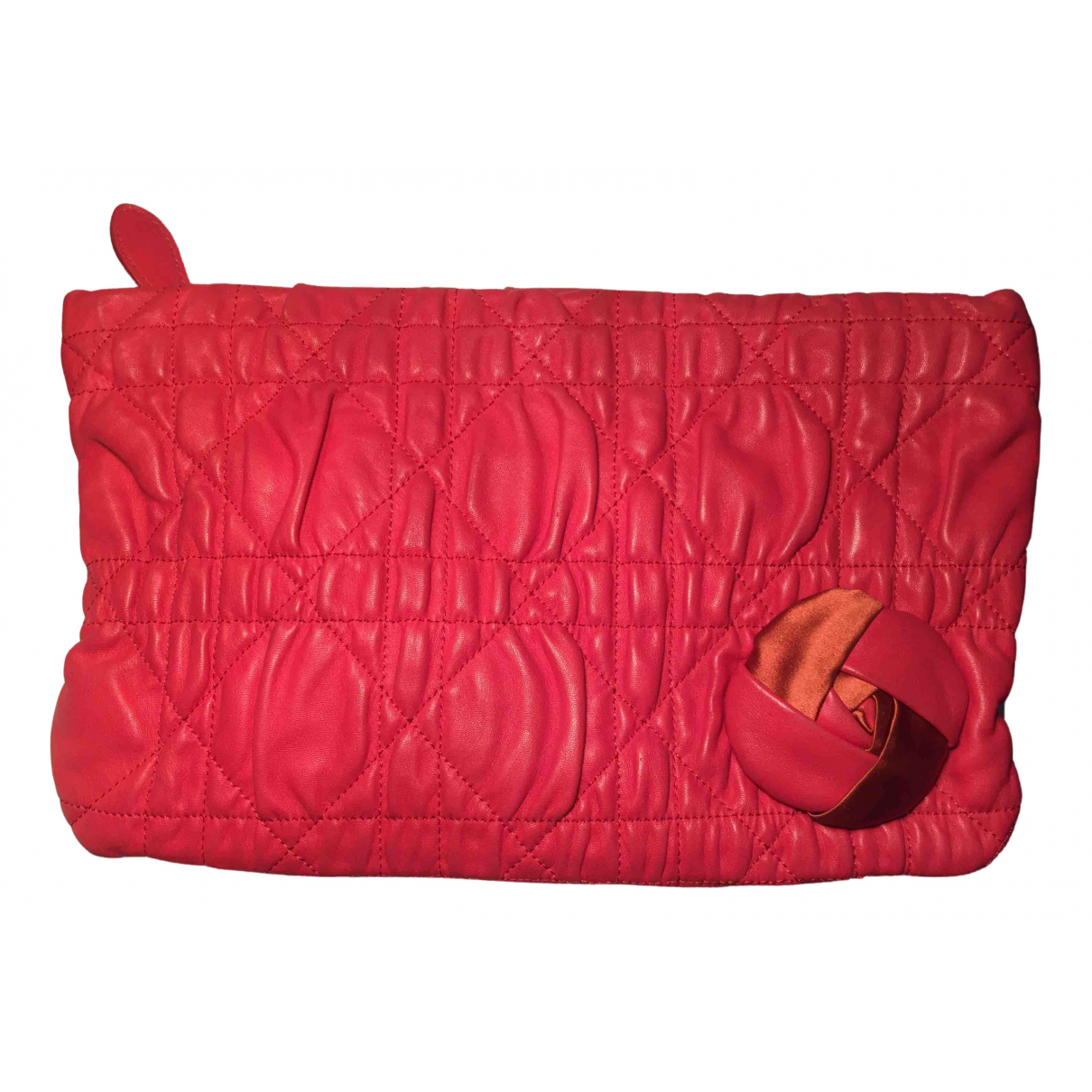 Dior \N Clutch in  Rot Leder