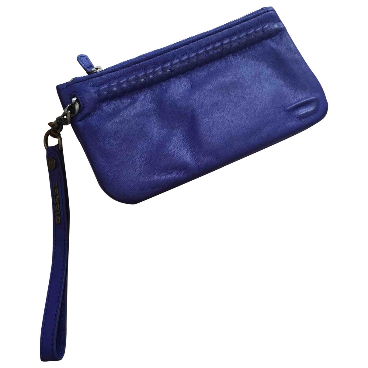 Diesel \N Blue Leather Clutch bag for Women \N