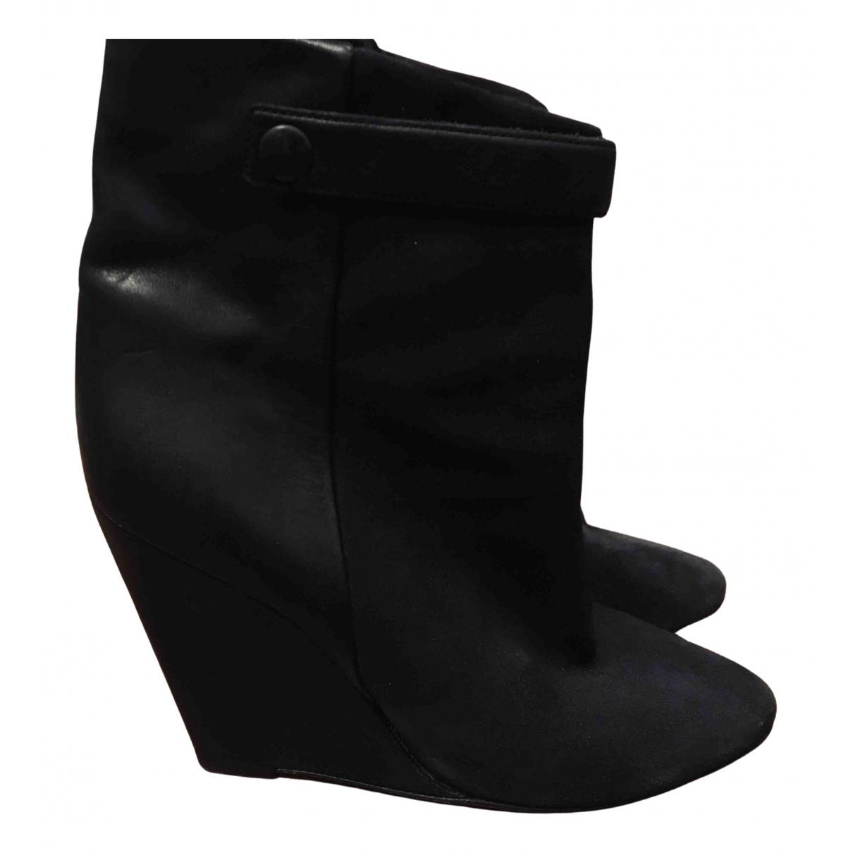 Isabel Marant - Boots Purdey pour femme en suede - noir