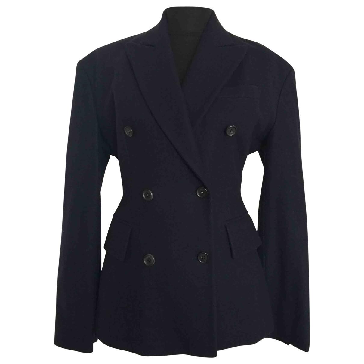 Celine \N Navy Wool jacket for Women 38 FR