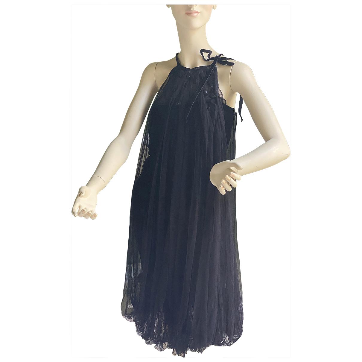Jean Paul Gaultier \N Kleid in  Schwarz Samt