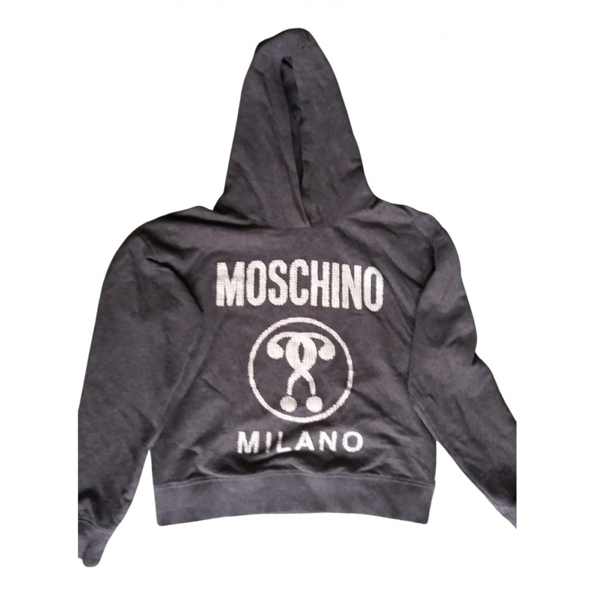 Moschino - Pull   pour enfant en coton - gris