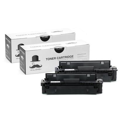 Compatible HP 410X CF410X Black Toner Cartridge High Yield - Moustache - 2/Pack