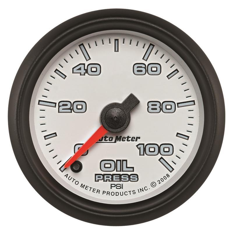 AutoMeter GAUGE; OIL PRESSURE; 2 1/16in.; 100PSI; DIGITAL STEPPER MOTOR; WHITE; PRO-CYCLE