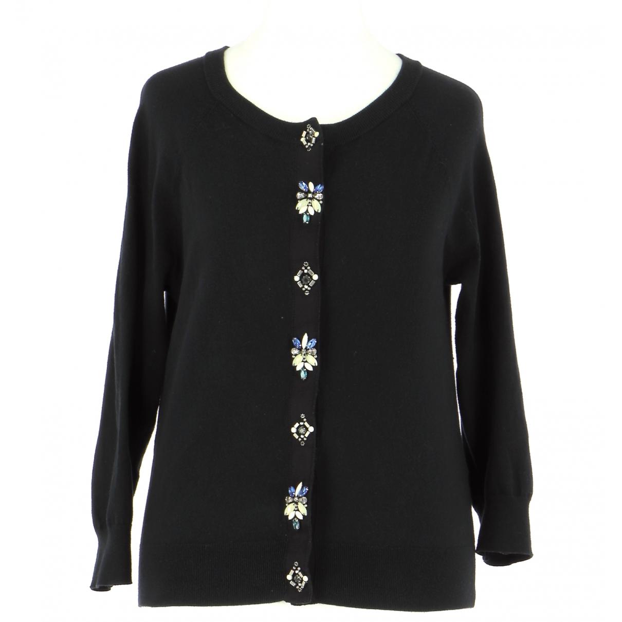 Karen Millen \N Pullover.Westen.Sweatshirts  in  Schwarz Baumwolle
