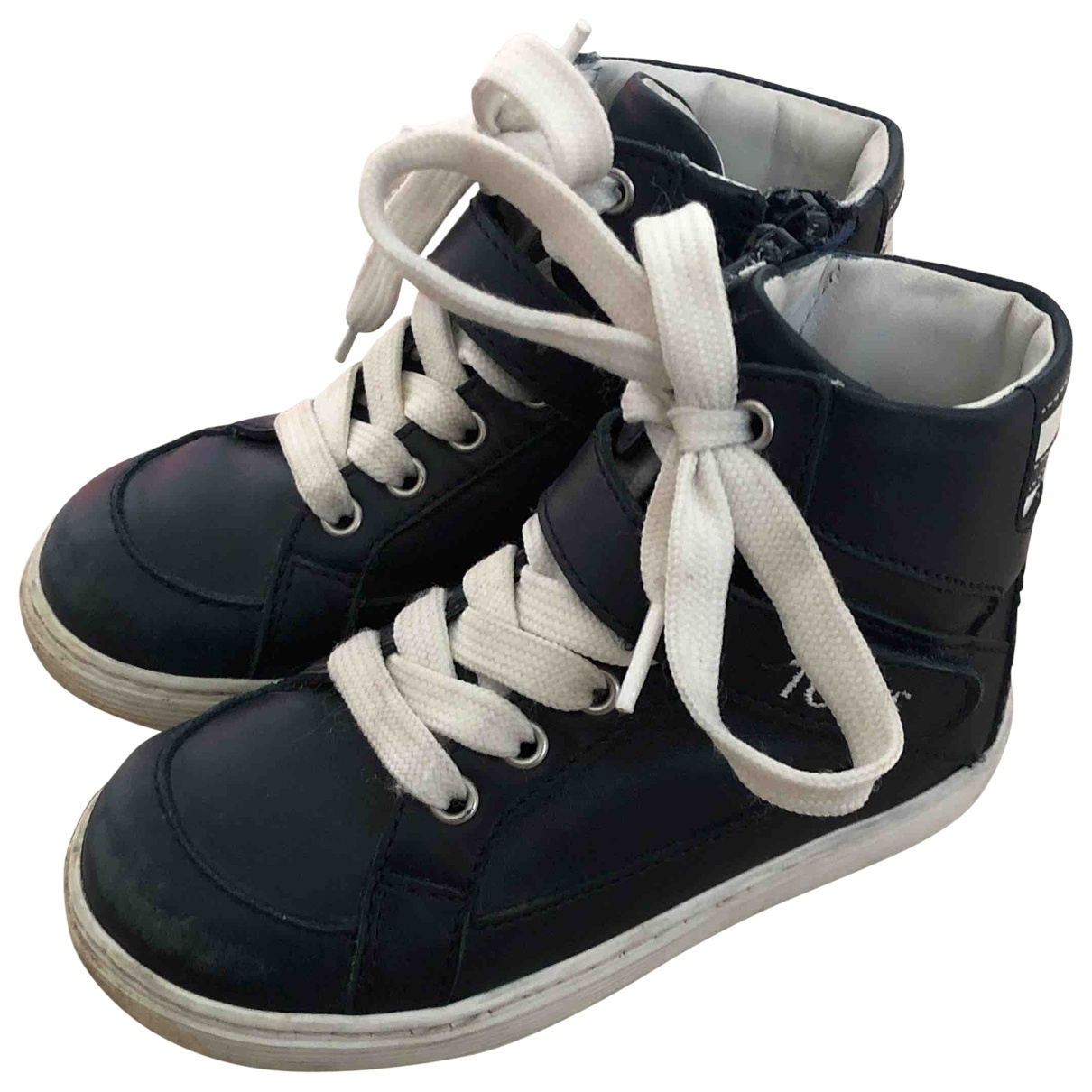Tod's \N Blue Leather Trainers for Kids 23 EU