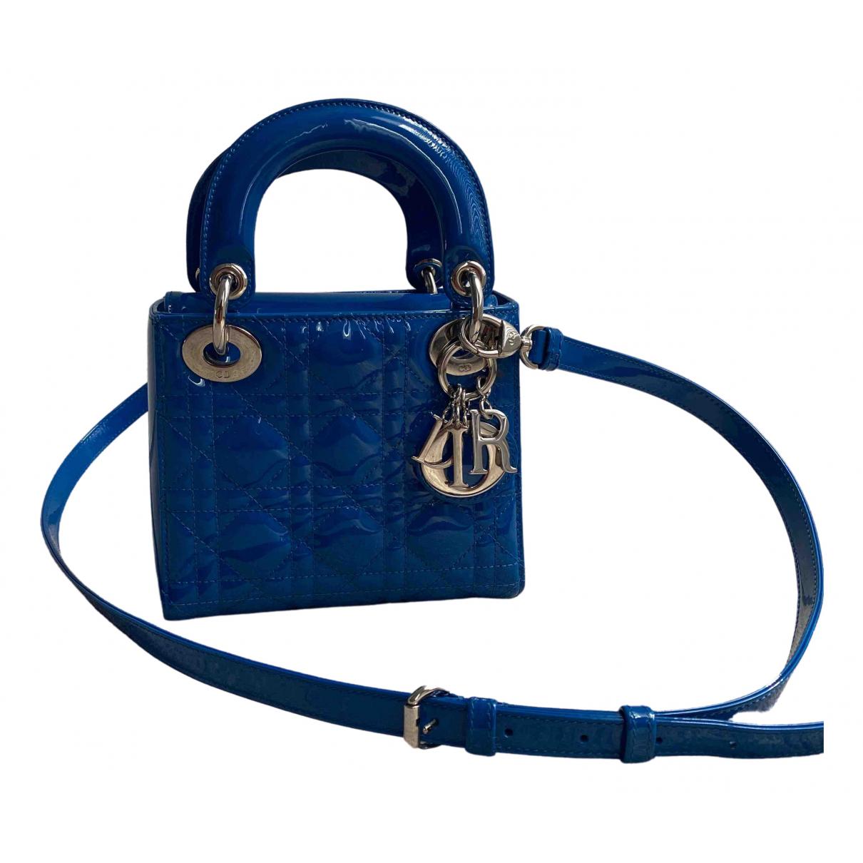 Dior Lady Dior Blue Leather handbag for Women \N