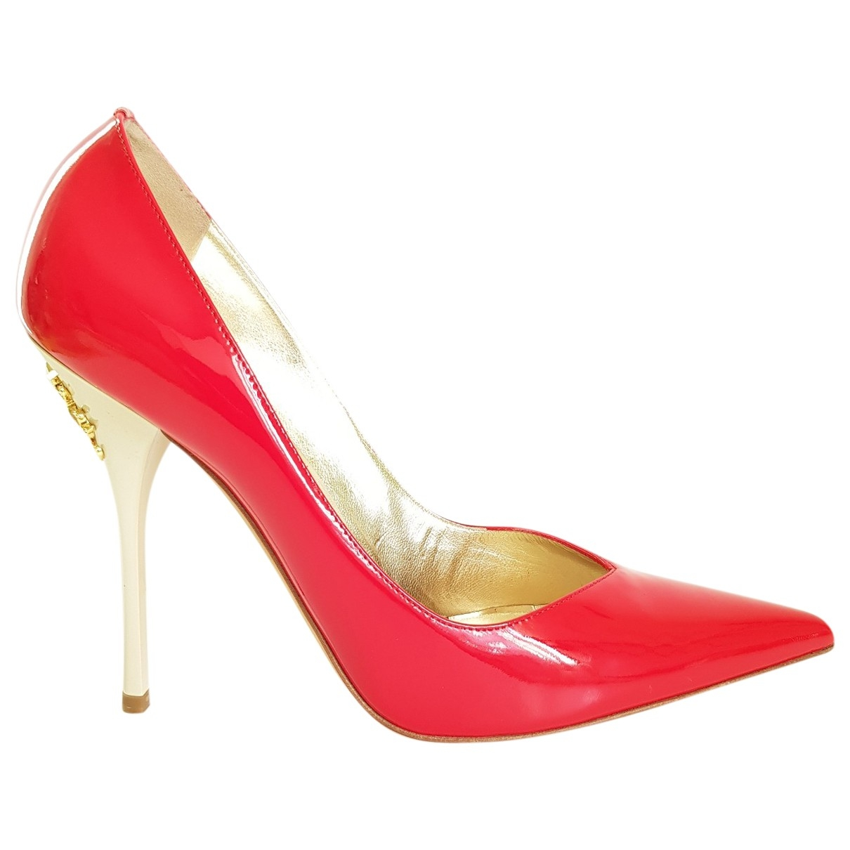 Roberto Cavalli \N Red Patent leather Heels for Women 40.5 EU