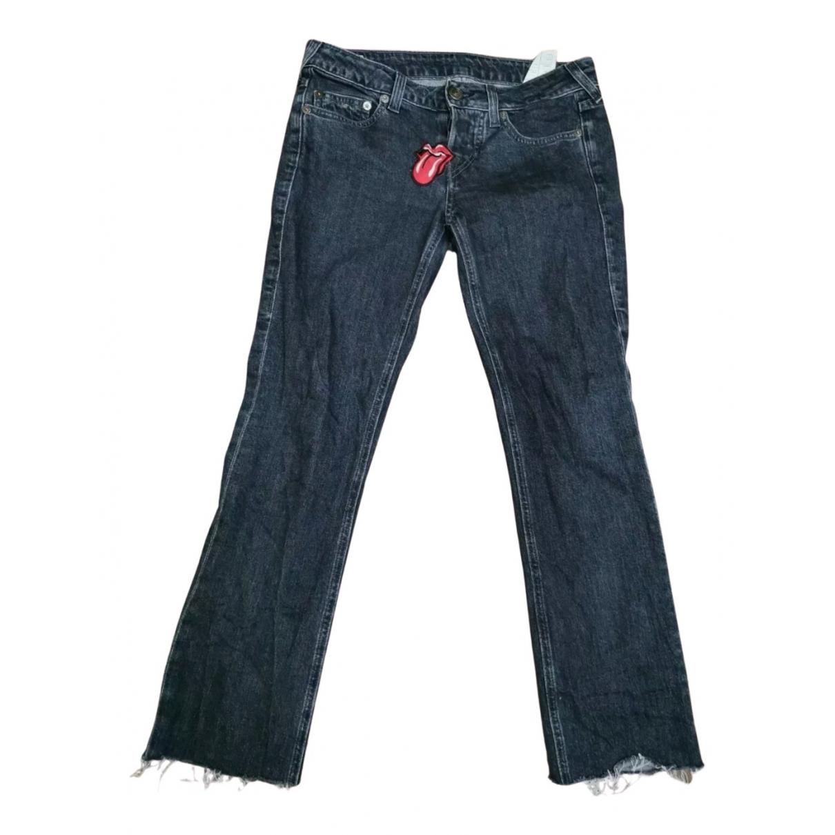 True Religion N Grey Cotton Jeans for Women 26 US