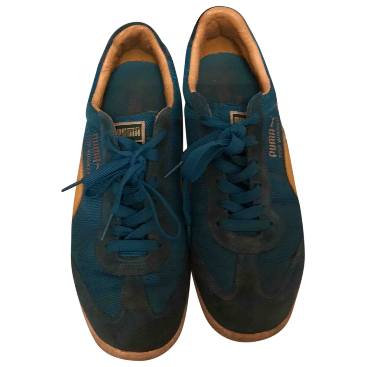 Puma - Baskets   pour homme en toile - bleu