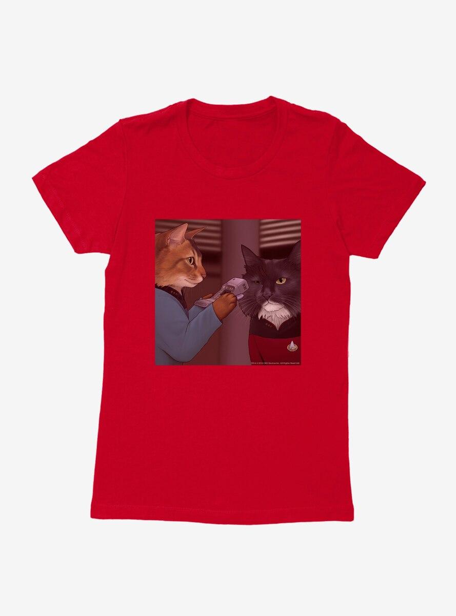 Star Trek The Next Generation Cats Riker and Crusher Womens T-Shirt