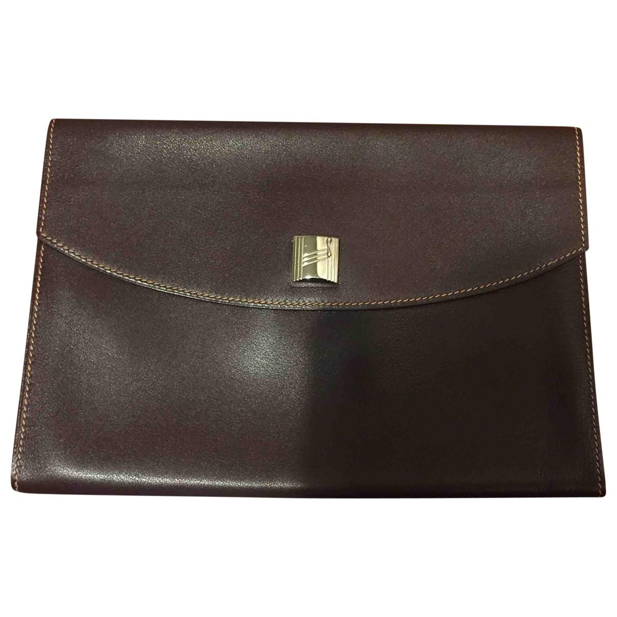 Hermes - Pochette   pour femme en cuir - bordeaux