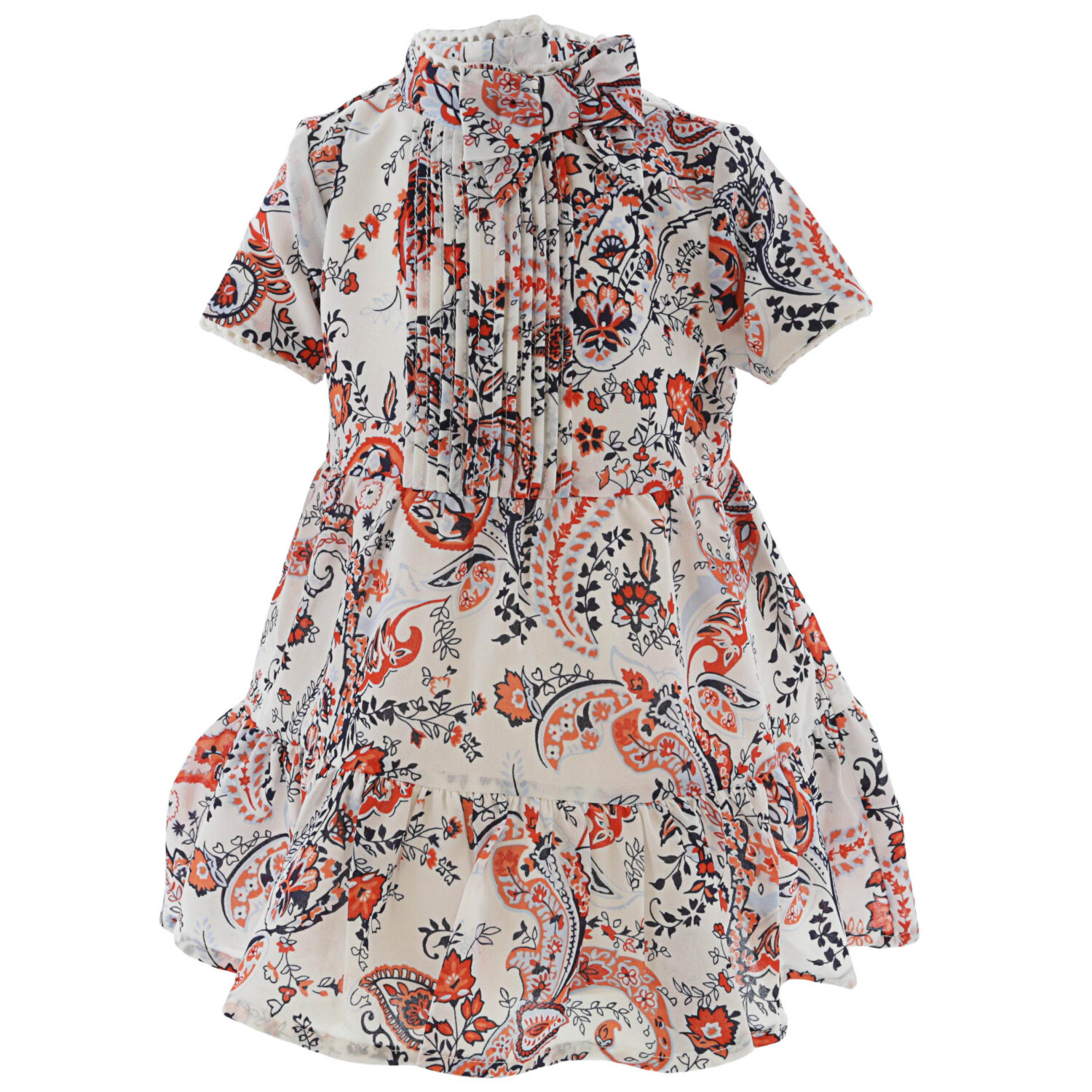 Janie And Jack White Multicolor The Maya Dress Special Occasion - 3-6 Months
