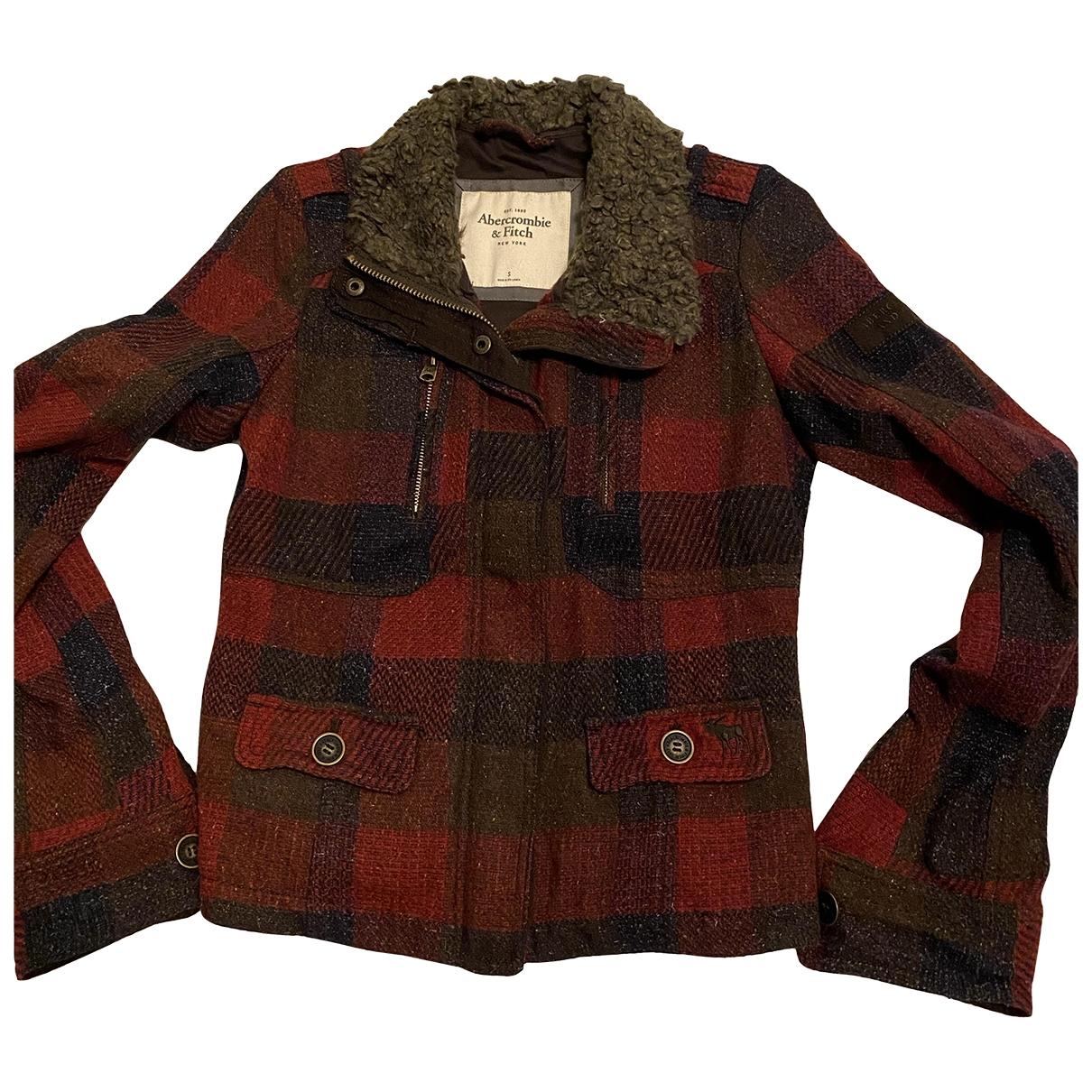 Abercrombie & Fitch - Veste   pour femme en laine - rouge