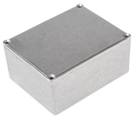 RS PRO Grey Die Cast Aluminium Alloy Enclosure, 119 x 93.5 x 56.5mm