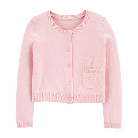 Carter's Toddler Girls Long Sleeve Cardigan, 4t , Multiple Colors
