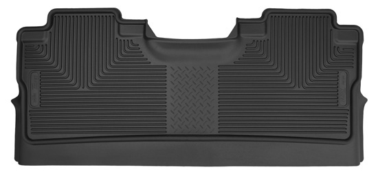 Husky 2nd Seat Floor Liner 2015 Ford F-150 SuperCrew Cab-Black X-Act Contour (Footwell Coverage)