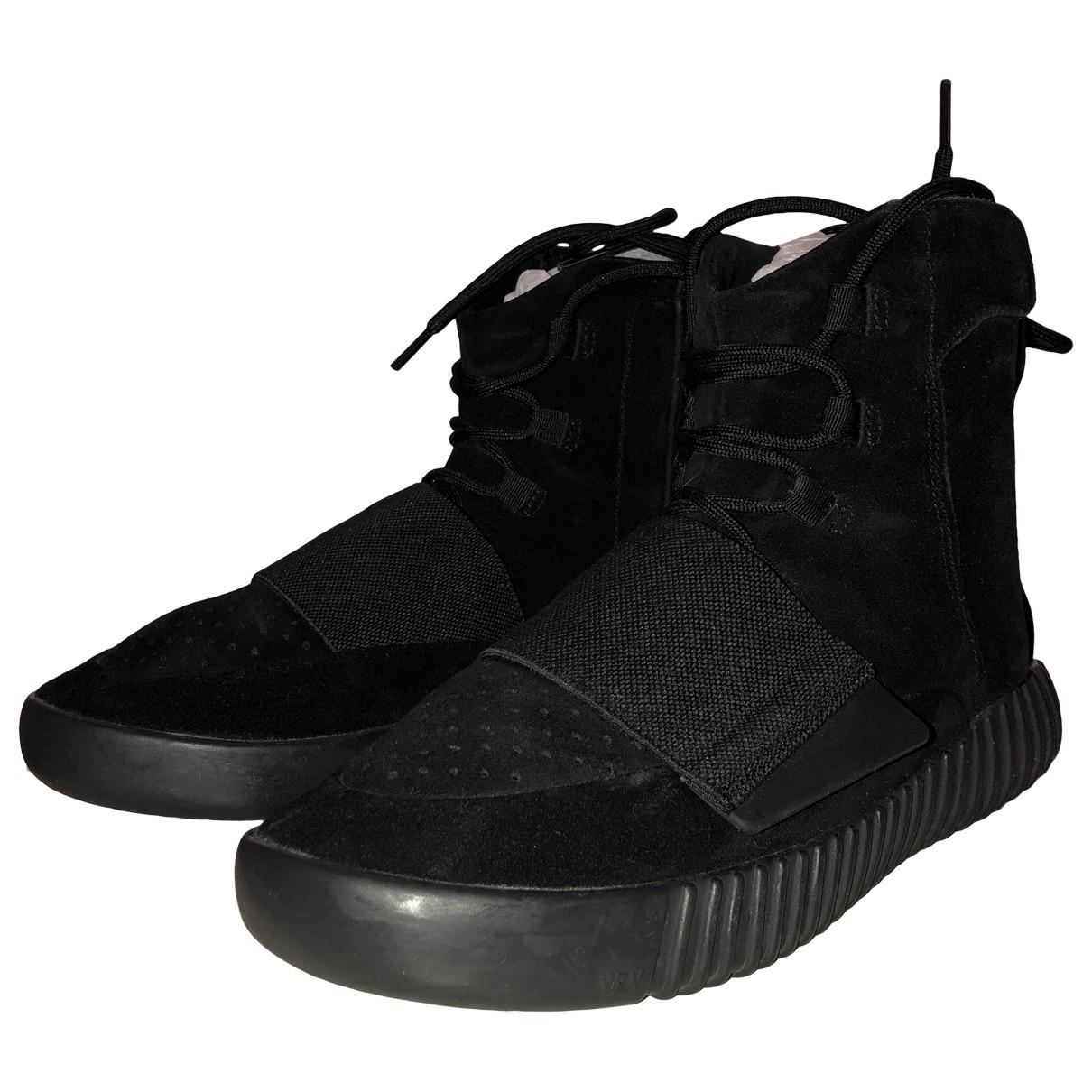 Yeezy X Adidas - Baskets Boost 750  pour homme en suede - noir