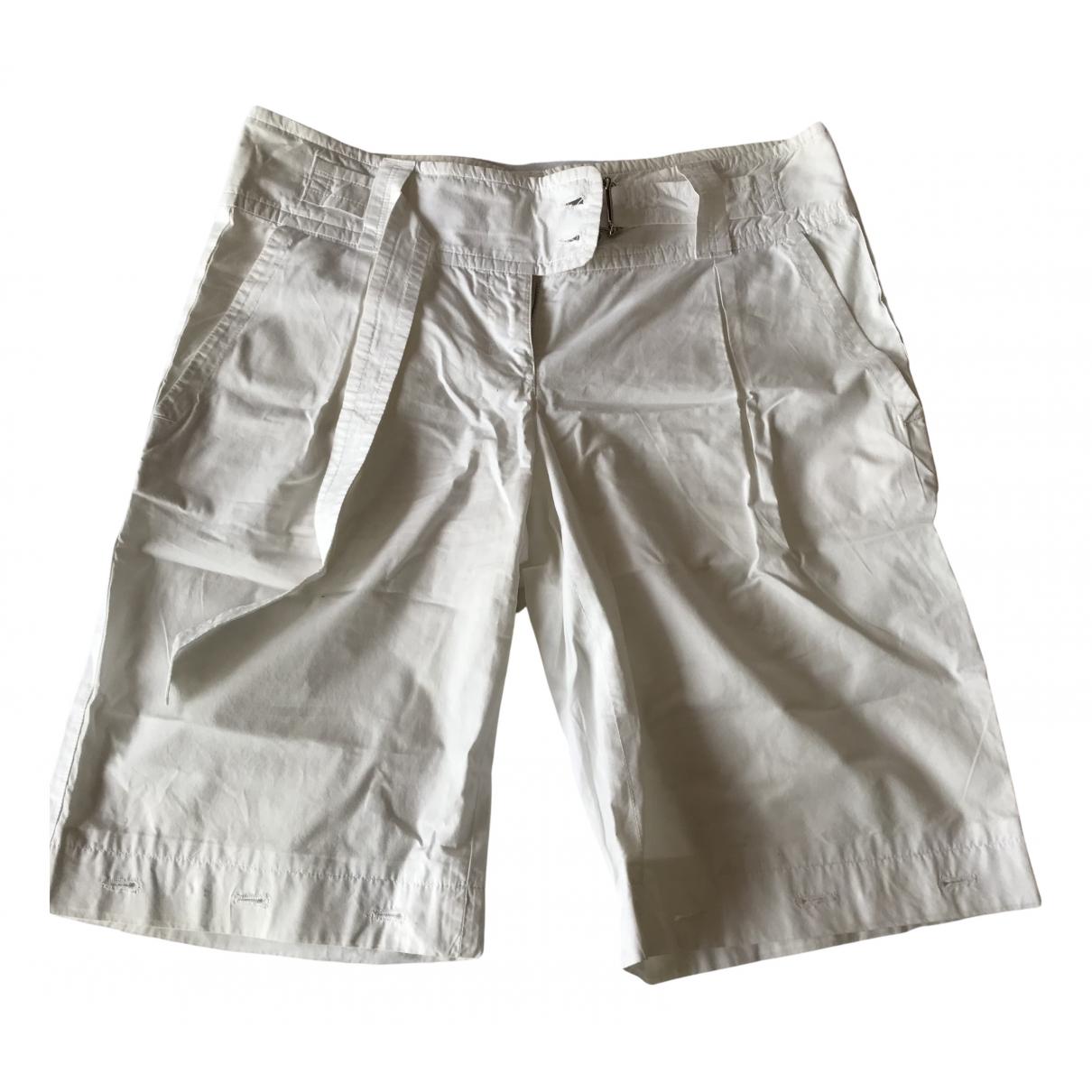 Prada \N Shorts in  Weiss Leinen
