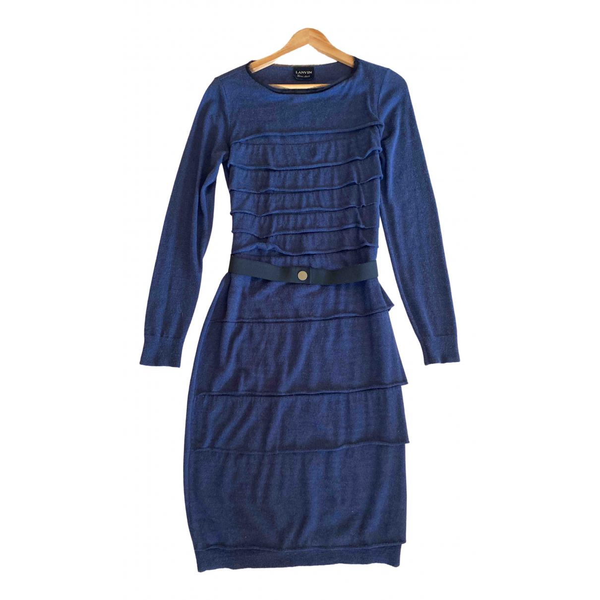 Lanvin - Robe   pour femme en laine - bleu