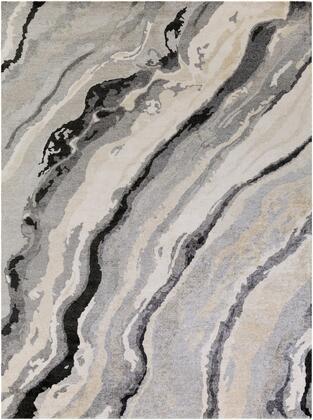 Gemini GMN-4034 10' x 14' Rectangle Modern Rug in Charcoal  Medium Gray  Light Gray