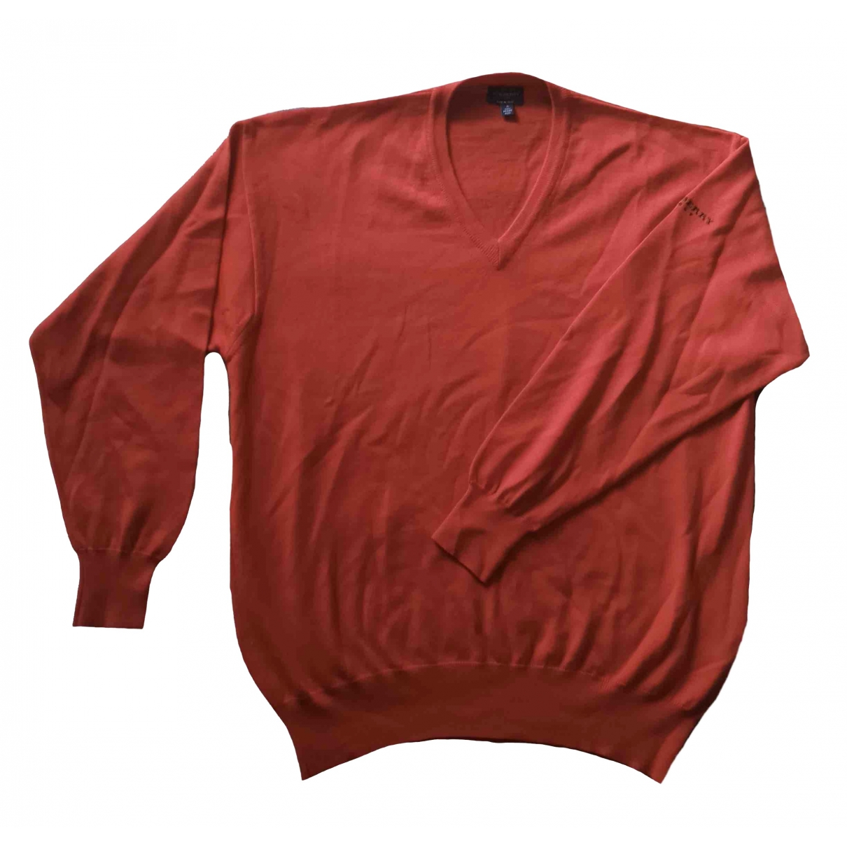 Burberry - Pulls.Gilets.Sweats   pour homme en laine - rouge