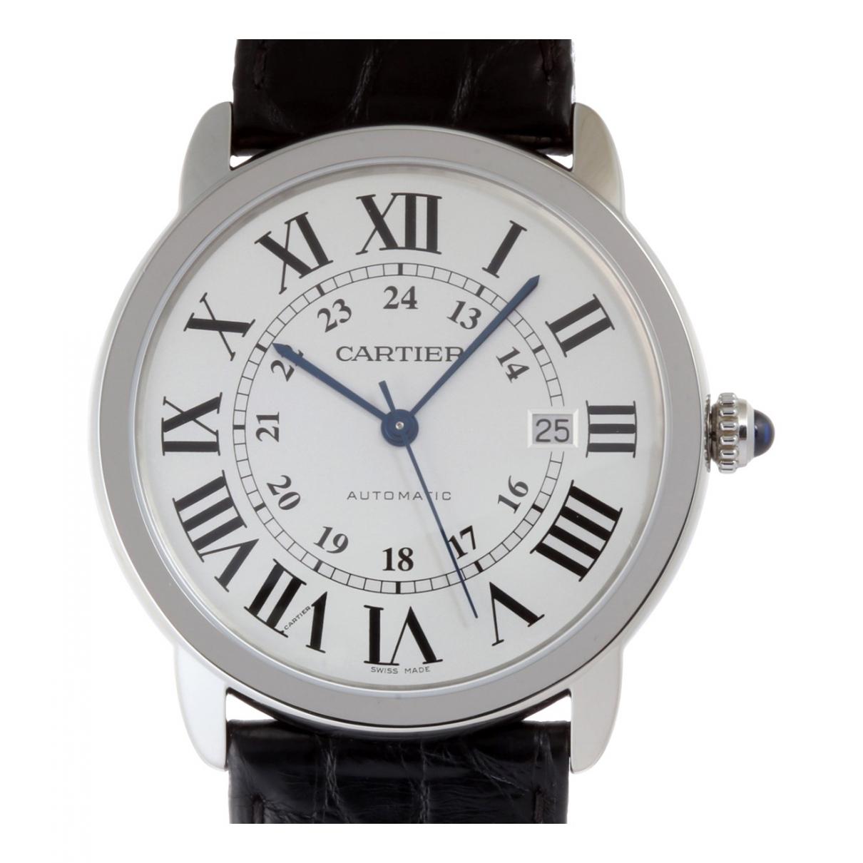 Cartier Ronde Solo Black Steel watch for Men \N