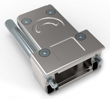 TE Connectivity Die Cast Zinc Angled D-sub Connector Backshell, 9, 15 Way