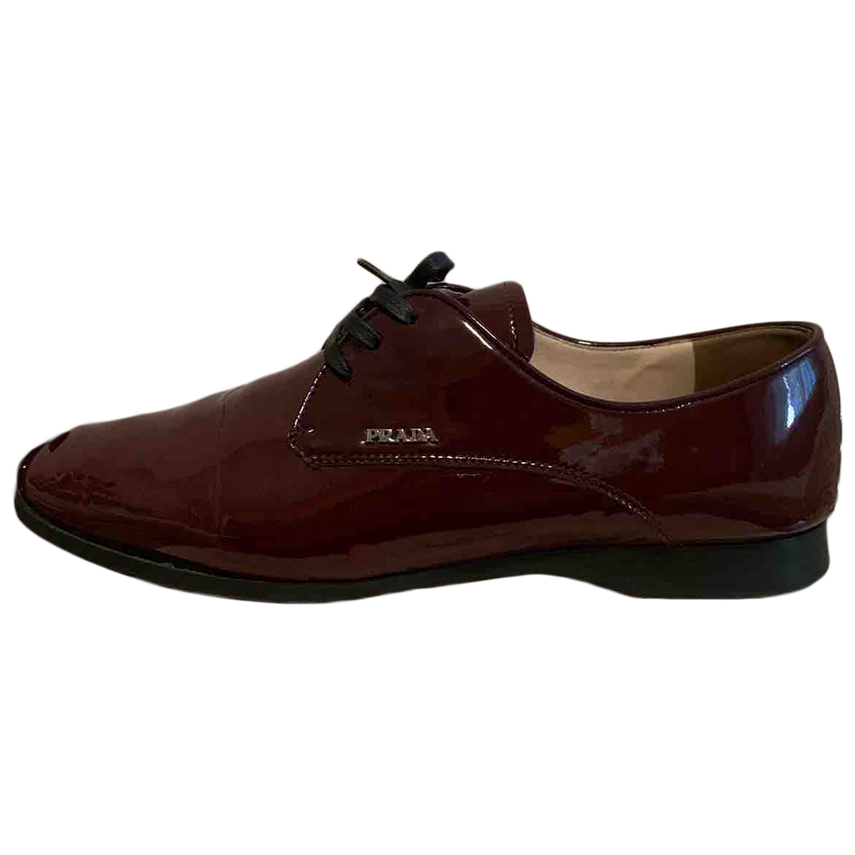 Prada N Burgundy Patent leather Lace ups for Women 39 EU