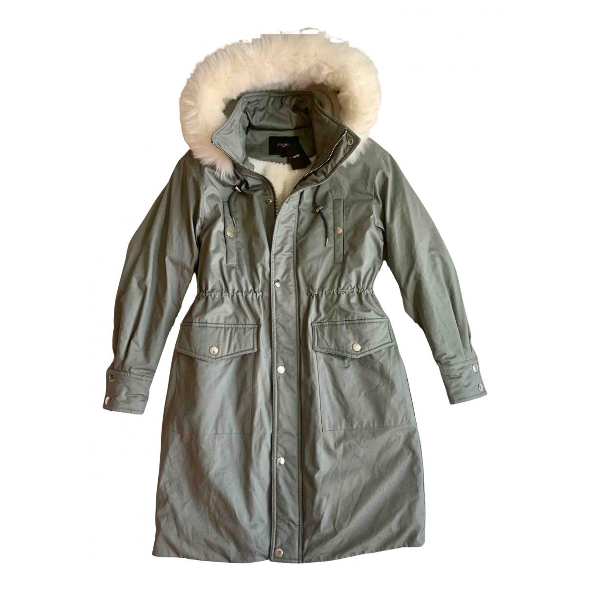 Maje - Manteau   pour femme en coton - gris