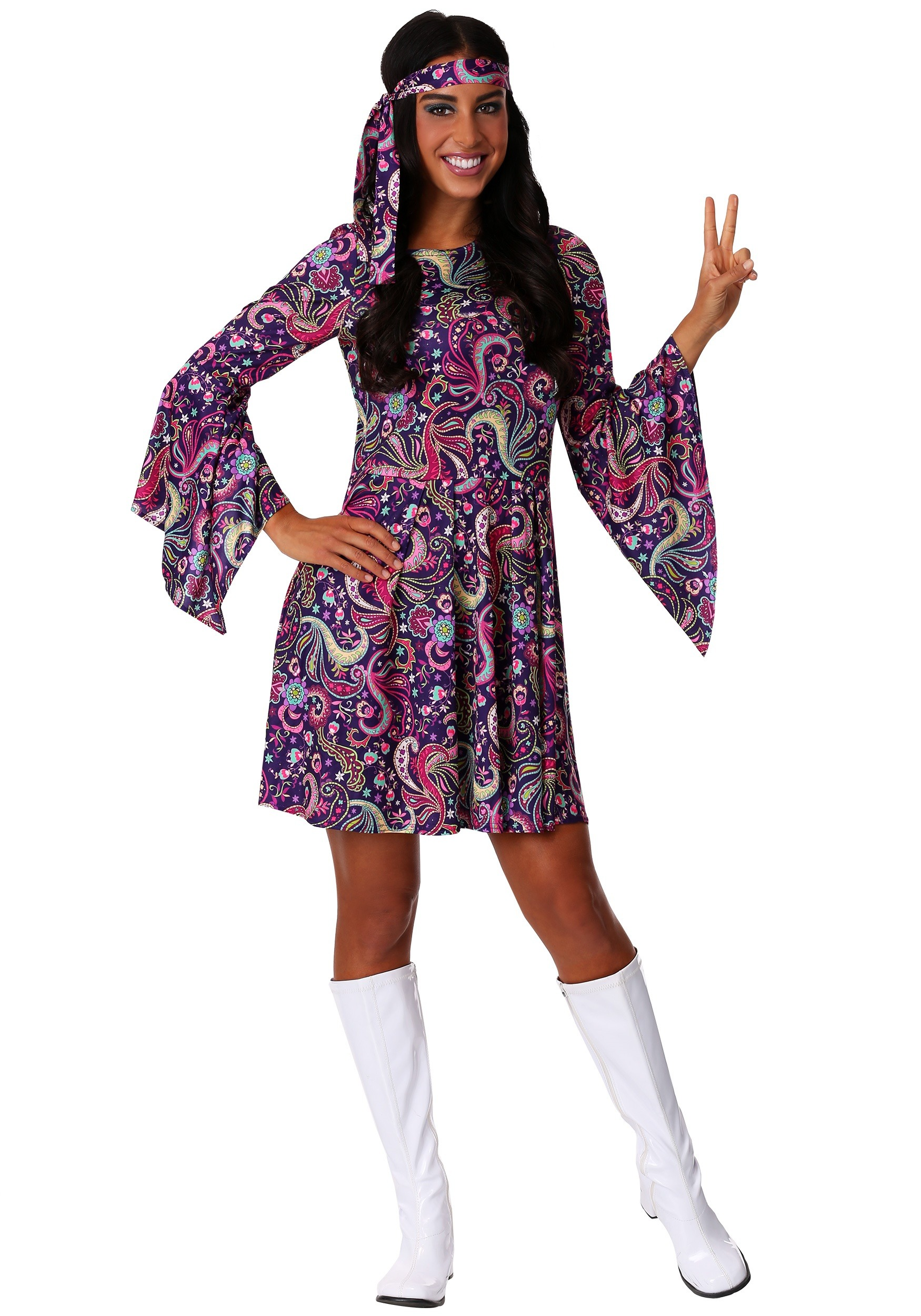 Woodstock Hippie Womens Costume