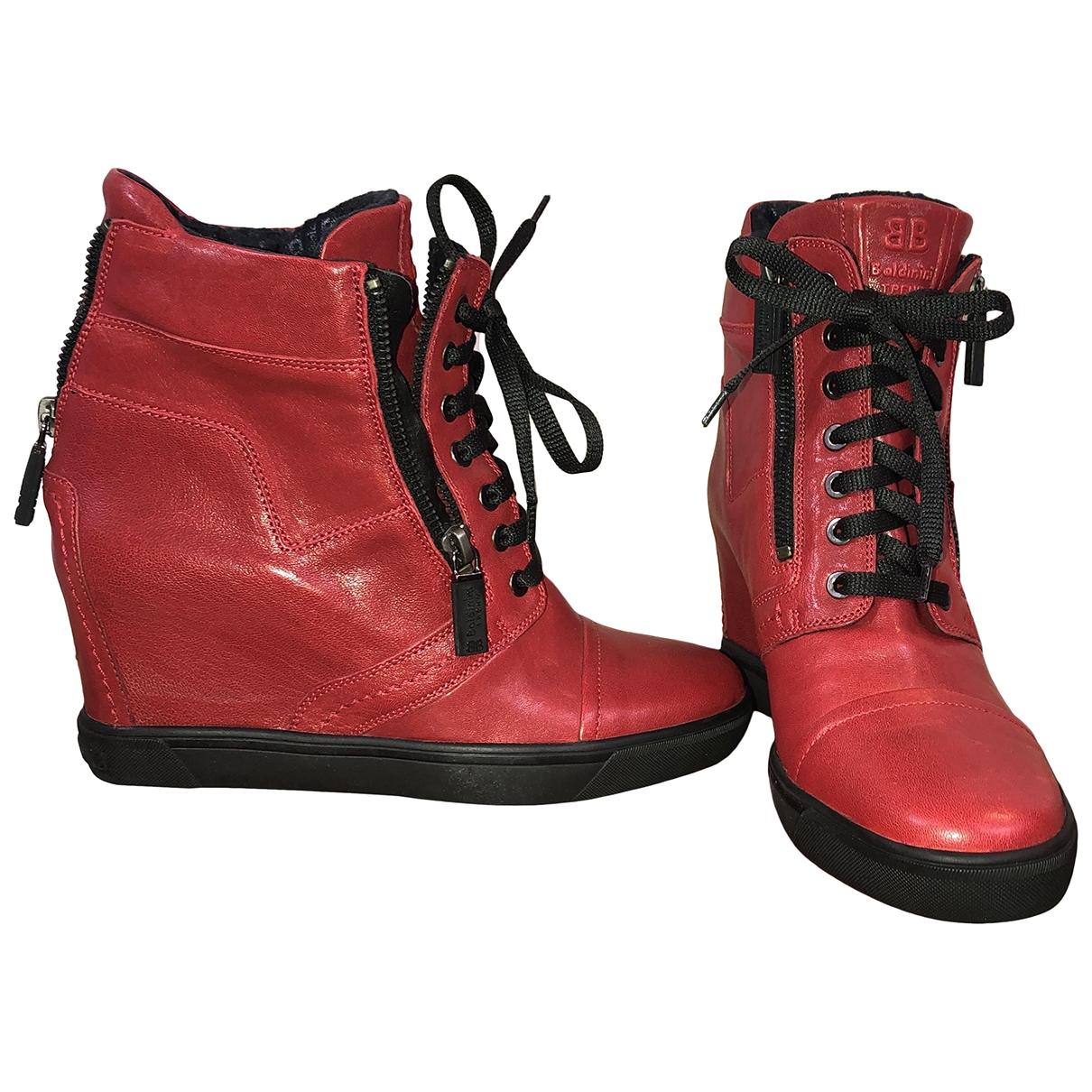 Baldinini \N Stiefeletten in  Rot Leder