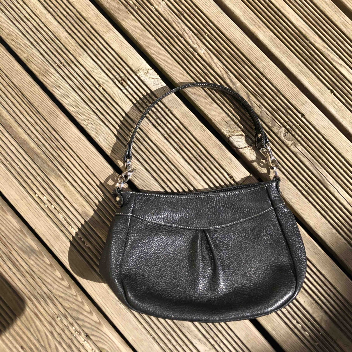 Lancaster \N Black Leather handbag for Women \N