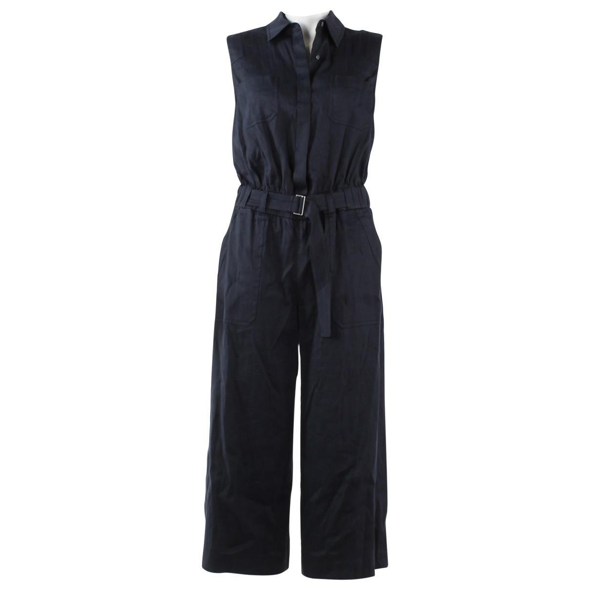 Vince \N Navy Linen jumpsuit for Women 2 US