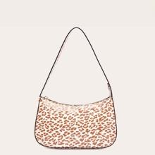 Leopard Baguette Bag