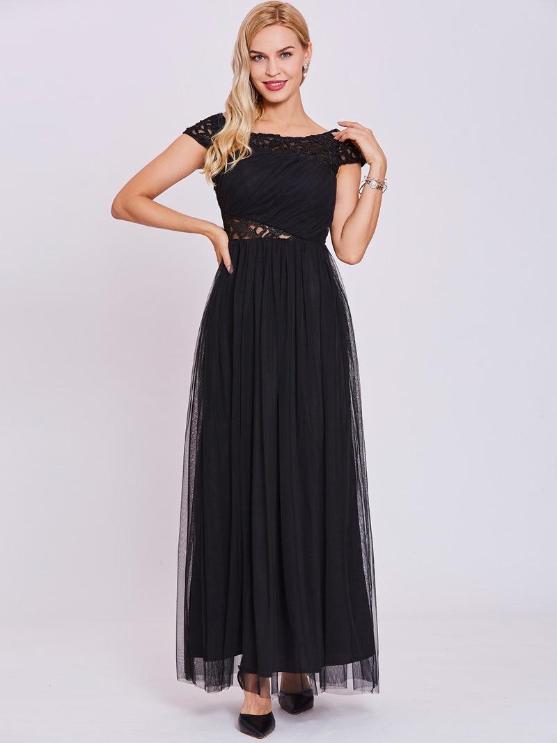 Ericdress Bateau Neck Hollow A Line Evening Dress
