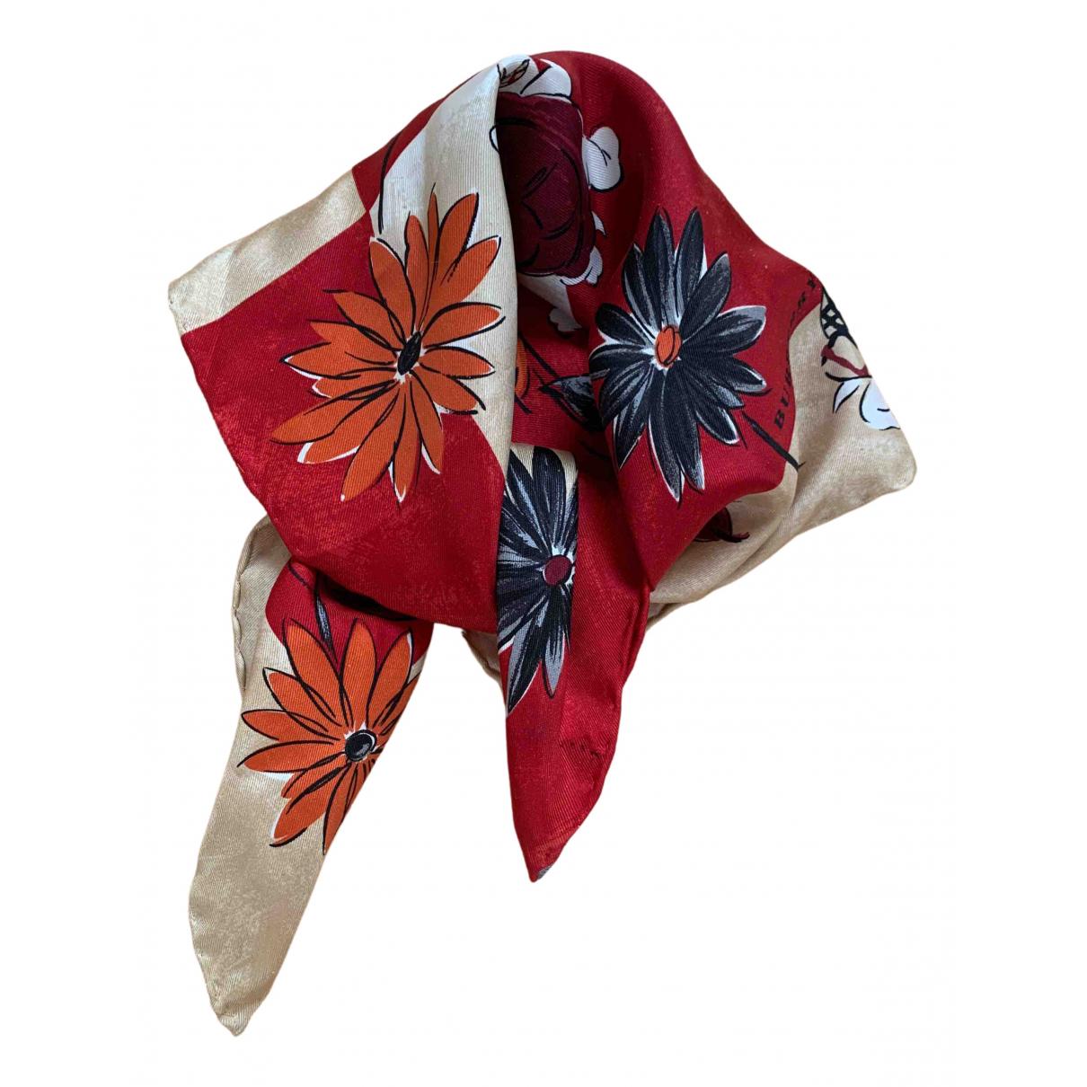 Burberry N Red Silk Silk handkerchief for Women N