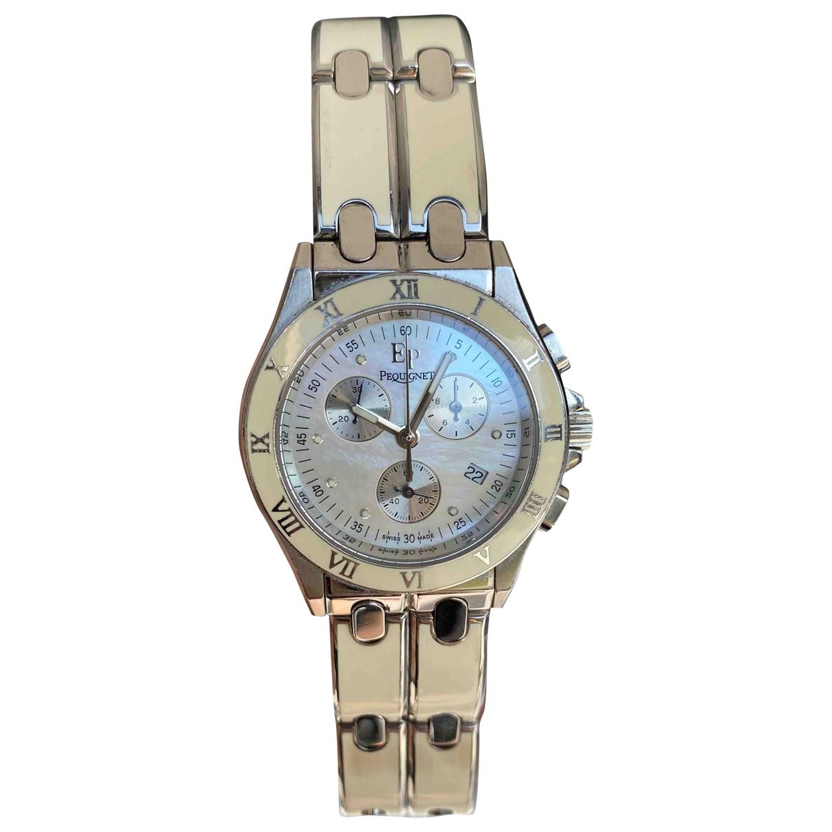 Pequignet \N Uhr in  Weiss Stahl
