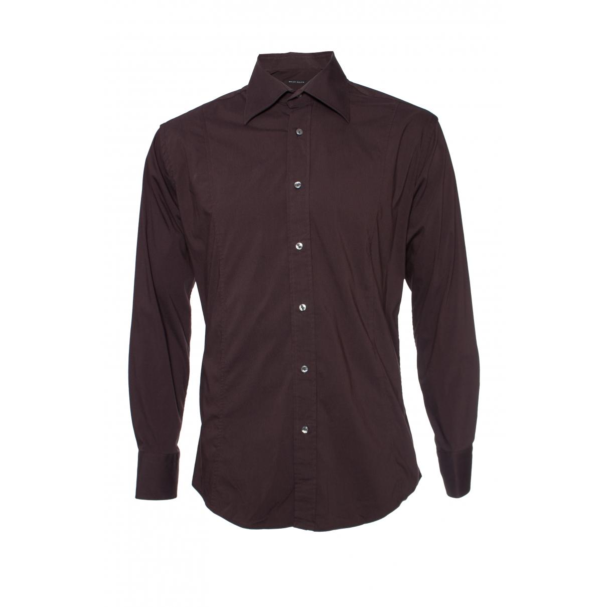 Non Signe / Unsigned \N Hemden in  Braun Baumwolle