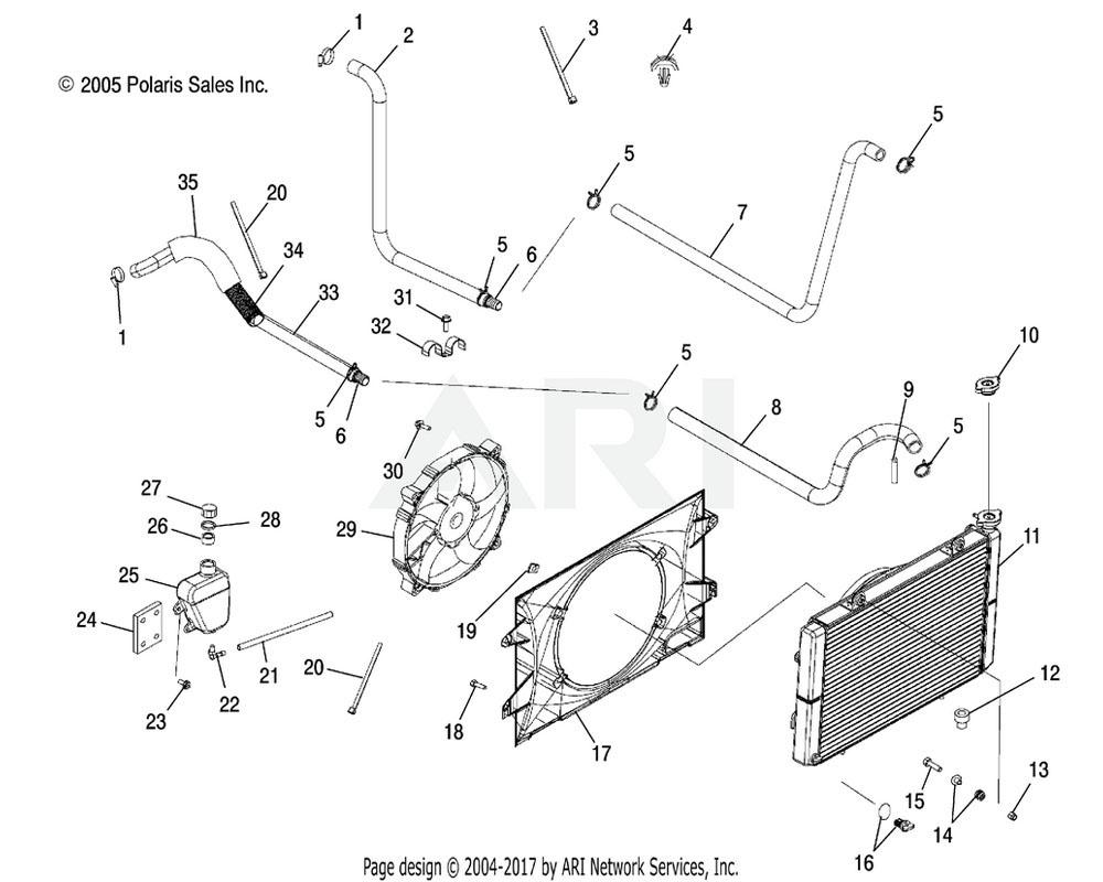 Polaris OEM 5412801 Hose, Engine Inlet