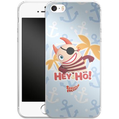 Apple iPhone 5s Silikon Handyhuelle - Sorgenfresser Hey Ho von Sorgenfresser