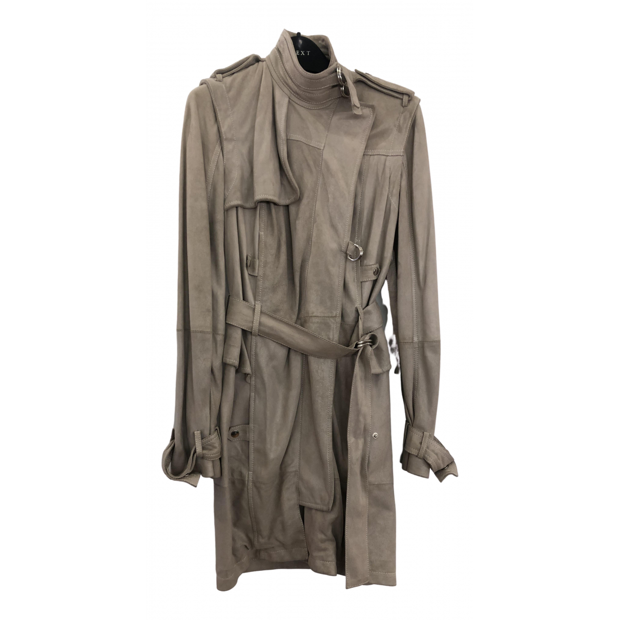 Mcq \N Trench in  Beige Leder