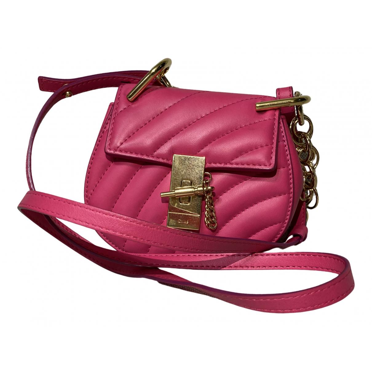 Chloé Drew Pink Leather handbag for Women N