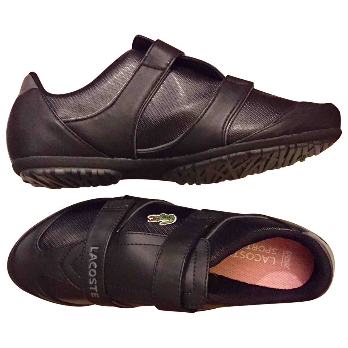 Lacoste \N Black Leather Trainers for Women 37.5 EU