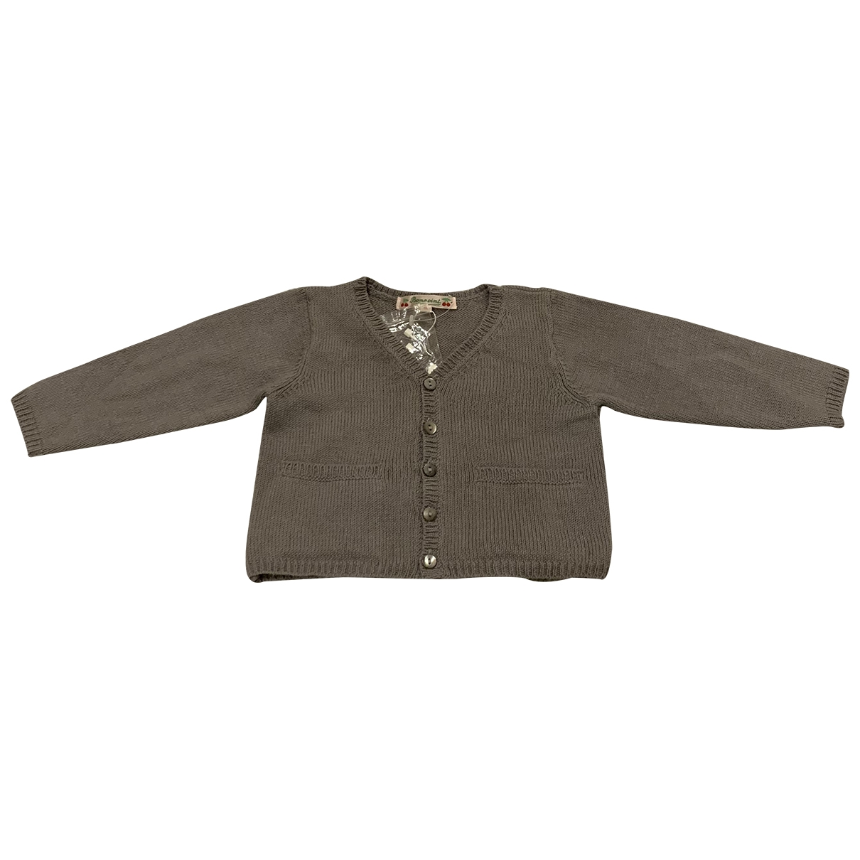Bonpoint \N Grey Cotton Knitwear for Kids 12 months - up to 74cm FR