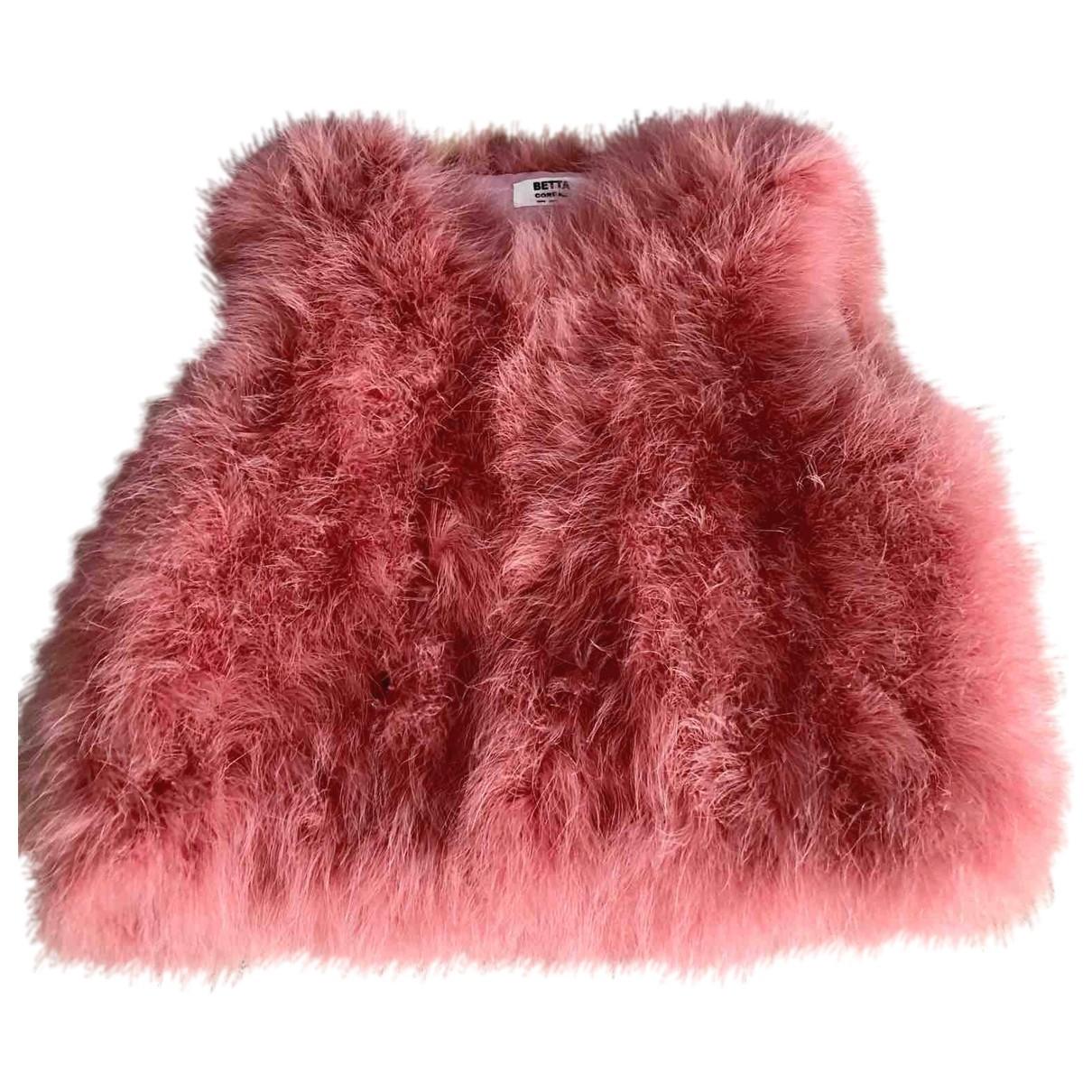 - Veste   pour femme en fourrure - rose