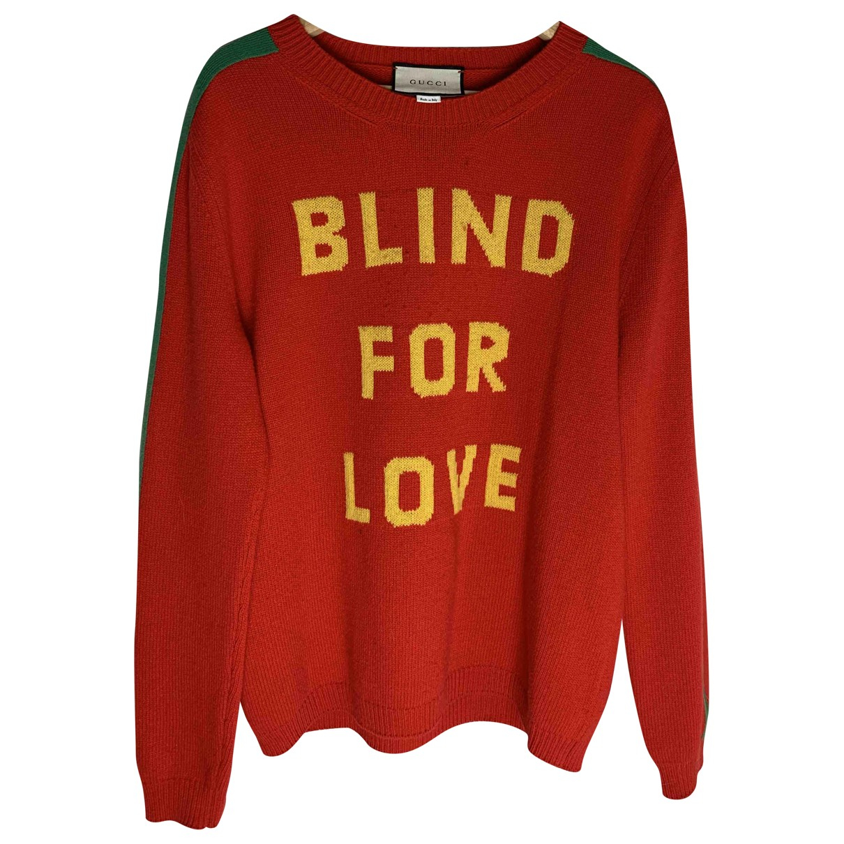 Gucci \N Pullover.Westen.Sweatshirts  in  Rot Wolle